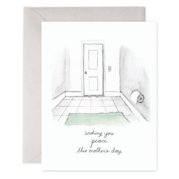 Bathroom Peace - Greeting Card