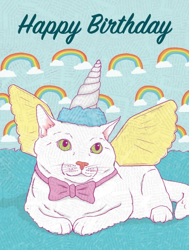 Meow-gical Creature Birthday - Greeting Card