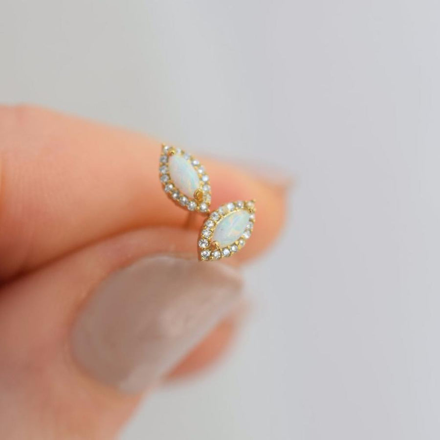 Mini Opal Eye Studs | LA KAISER | JV Studios Boutique