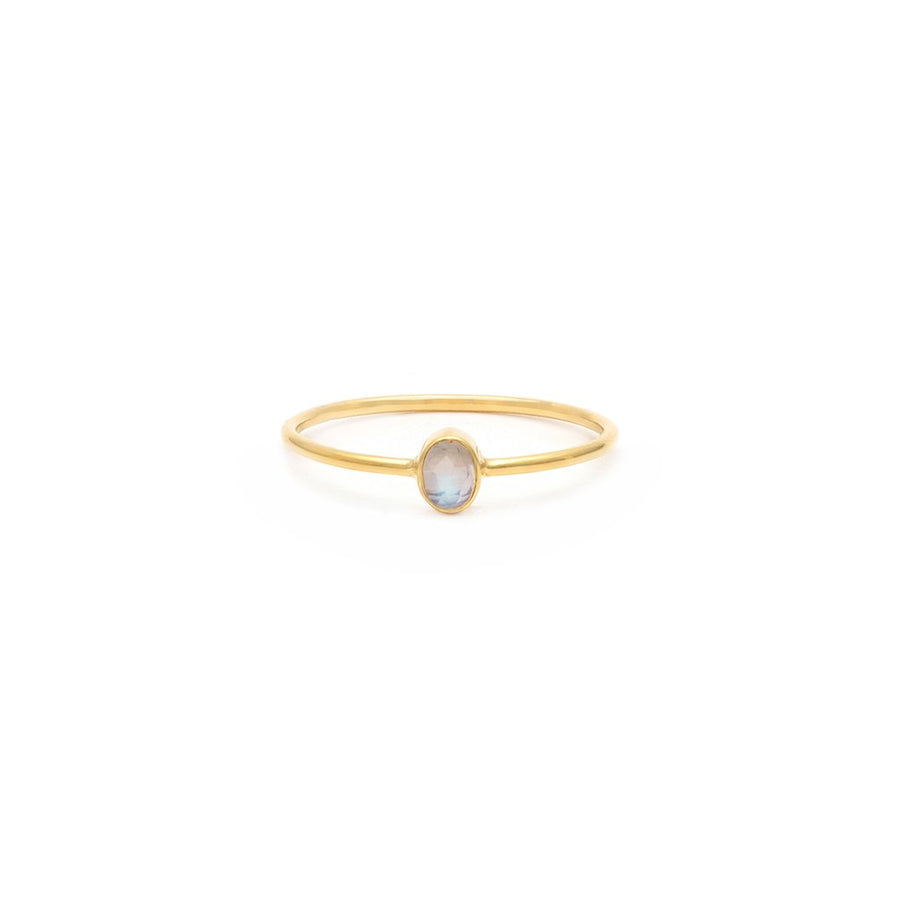 Petite Oval Ring - Moonstone | LEAH ALEXANDRA | JV Studios & Boutique