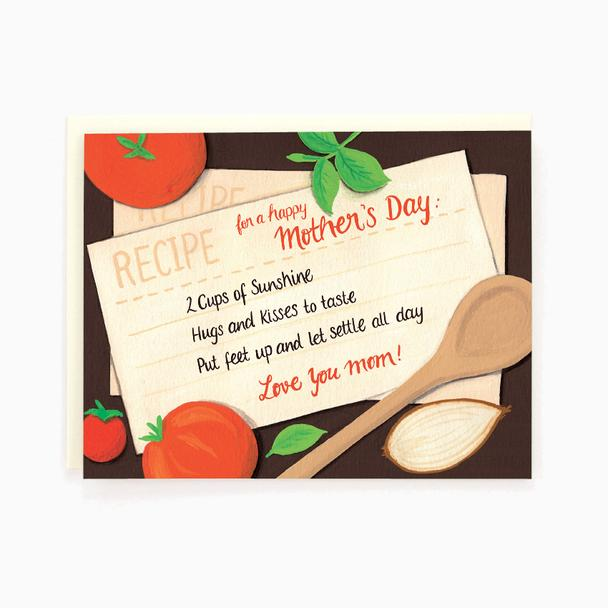 Mother's Day Recipe - Greeting Card
