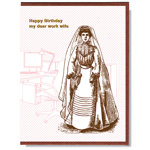 Copy of Happy Birthday Work Wife - Greeting Card