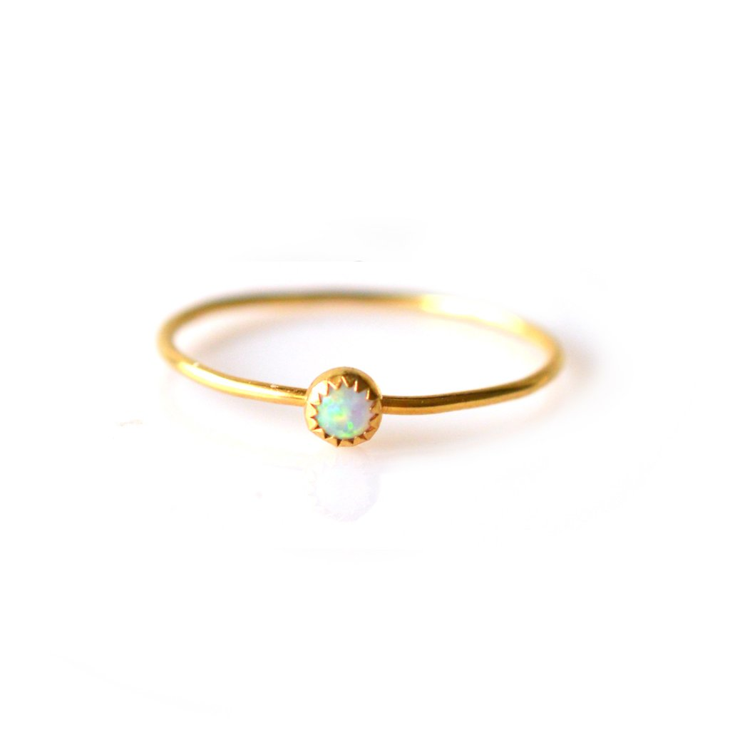Opal Solo Ring