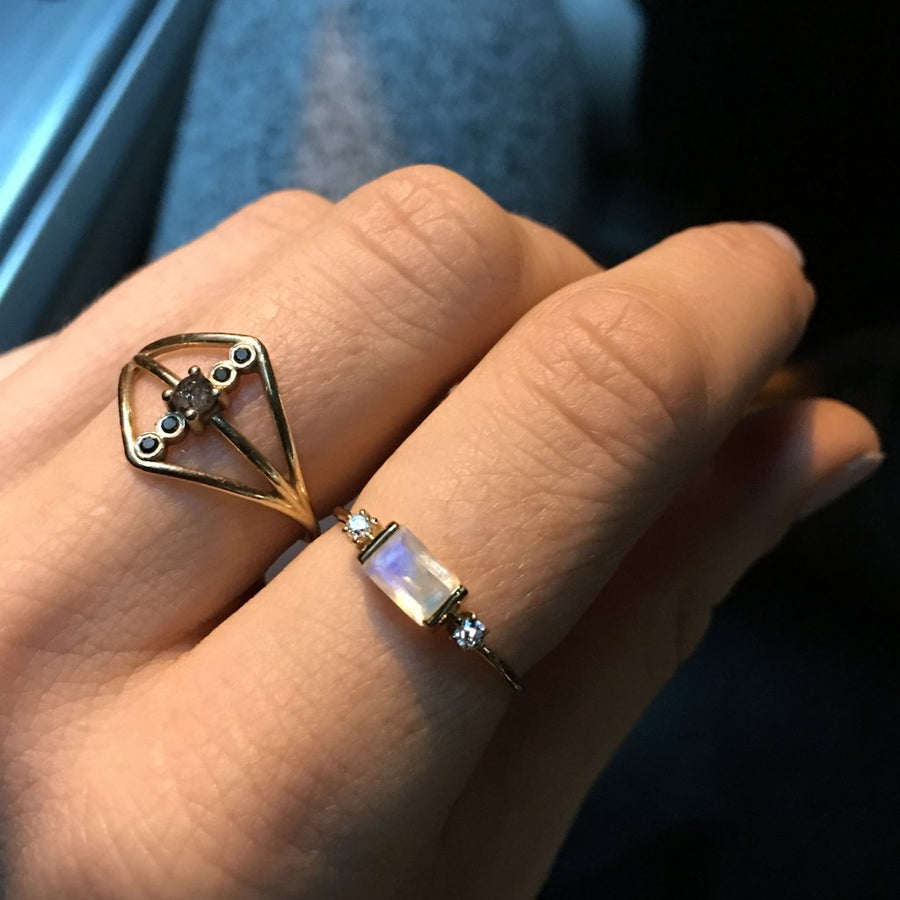 Rainbow Moonstone Sky Ring | LA KAISER | JV Studios Boutique