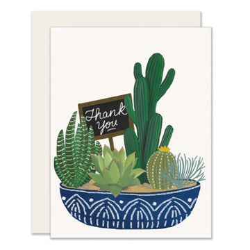 Succulent Thank You - Greeting Card