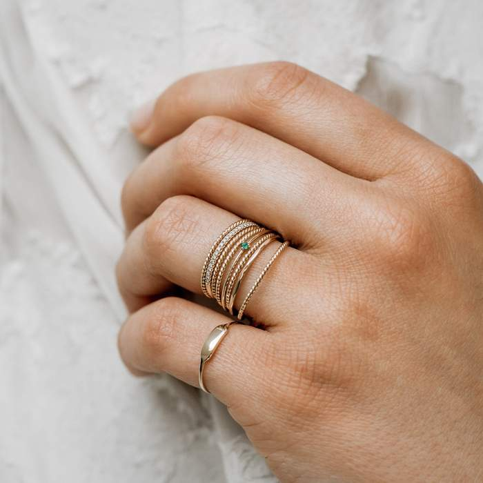 14K Twisted Sister Stacking Ring | BLUBOHO | JV Studios Boutique