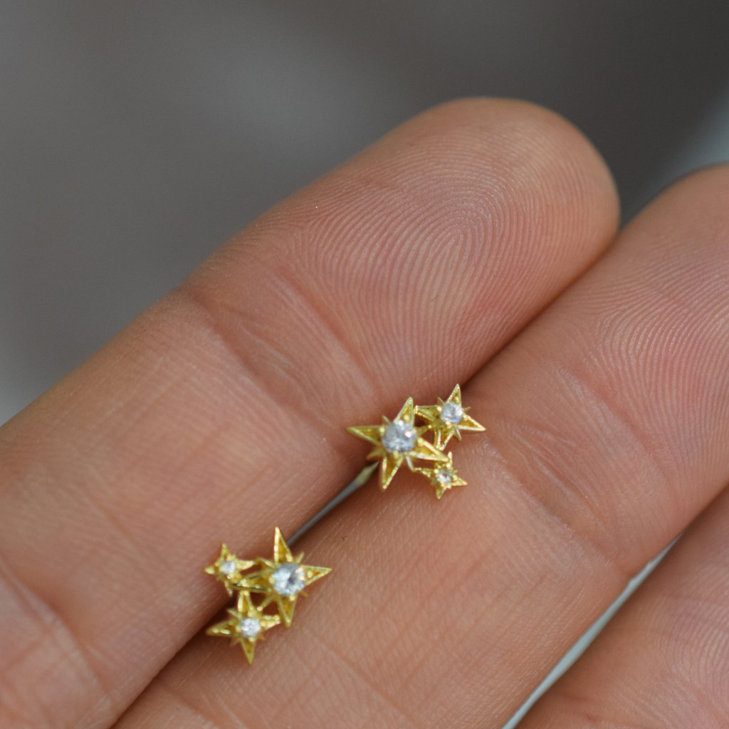 Starry Night Cluster Studs