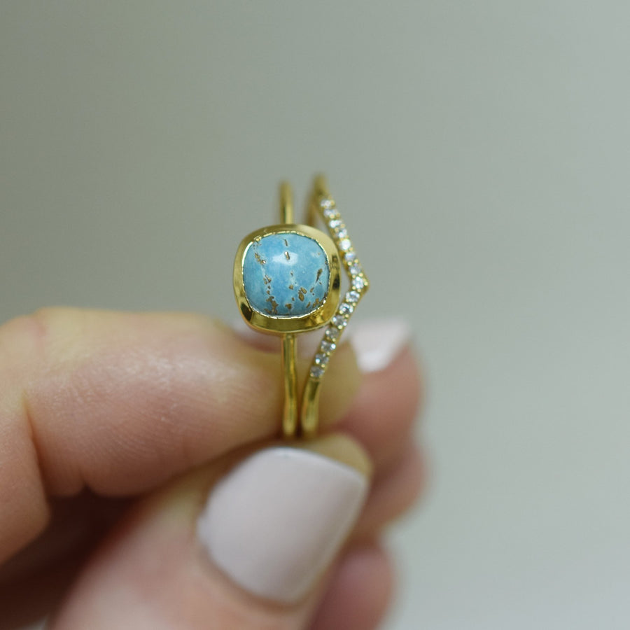 Copper Turquoise Mini Eclipse Ring | LA KAISER | JV Studios Boutique