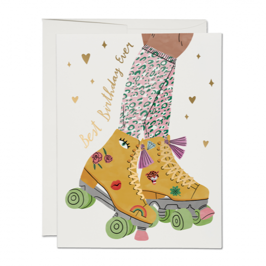 Roller Skate Birthday  - Greeting Card