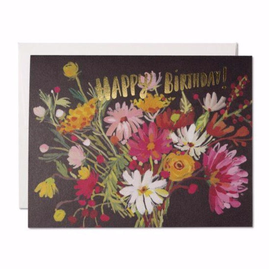 Vintage Bouquet - Greeting Card