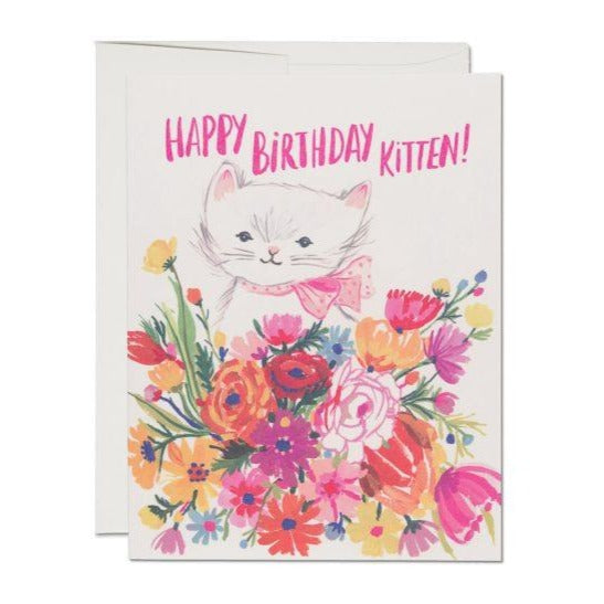 Birthday Kitten - Greeting Card