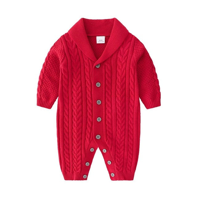 Newborn baby Long Sleeve Knitting Rompers