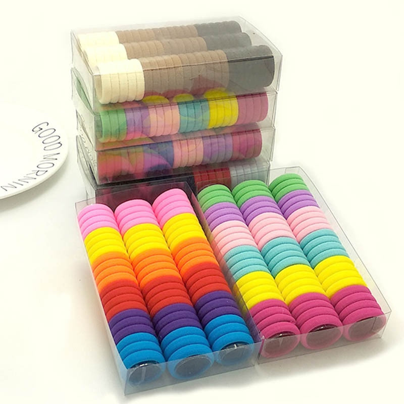 100 pcs/lot Kids Elastic Hair Bands
