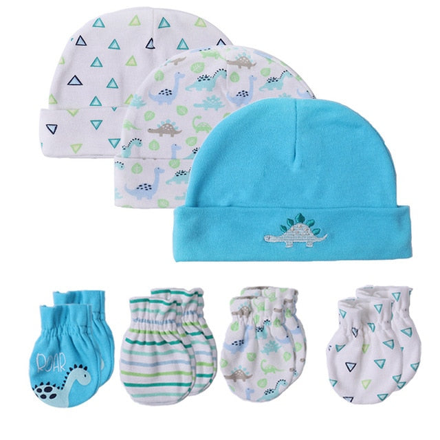 Newborn Baby Hat & Gloves