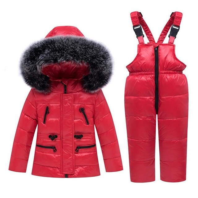Children's Down Hooded Jacket Set 2 piece