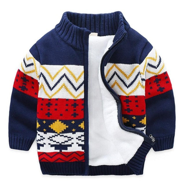 Toddler Long Sleeve Zipper Sweater