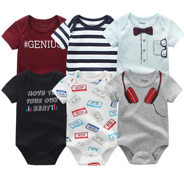 6 Piece Baby Rompers Sets