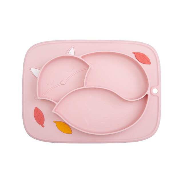 Baby Feeding Bowl Silicone Dinner Plate BPA Free
