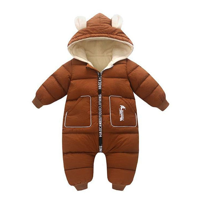Baby / Toddler Winter Hooded Overalls