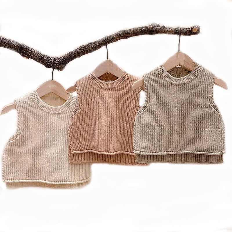 Baby / Toddler Sleeveless Pullover Knit Vest