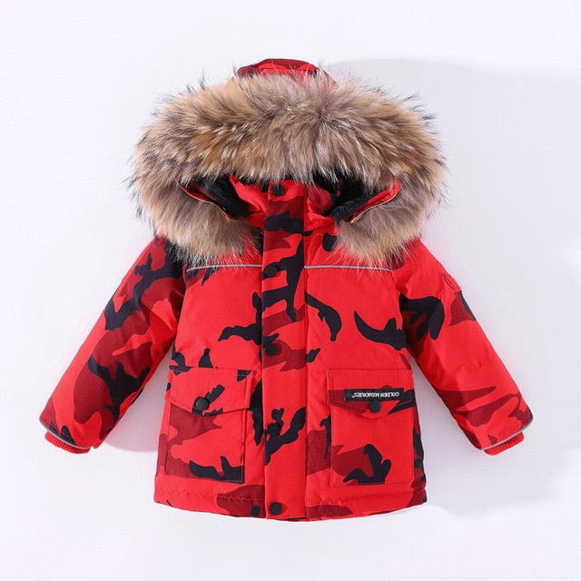 Toddler winter Snow Hooded Coat