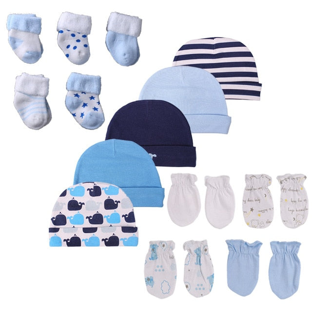 Newborn Baby Hat Gloves and Socks