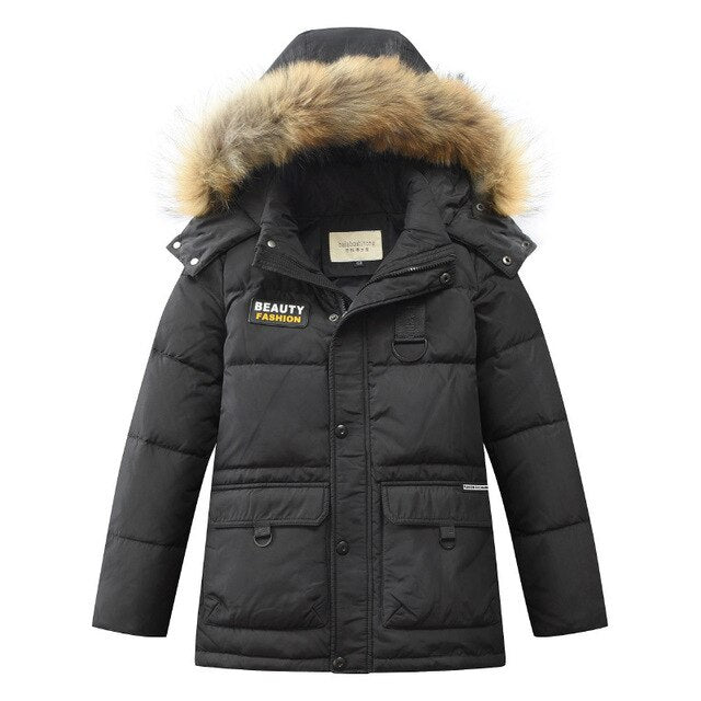 Children Duck Down Wind Proof Winter  Coat
