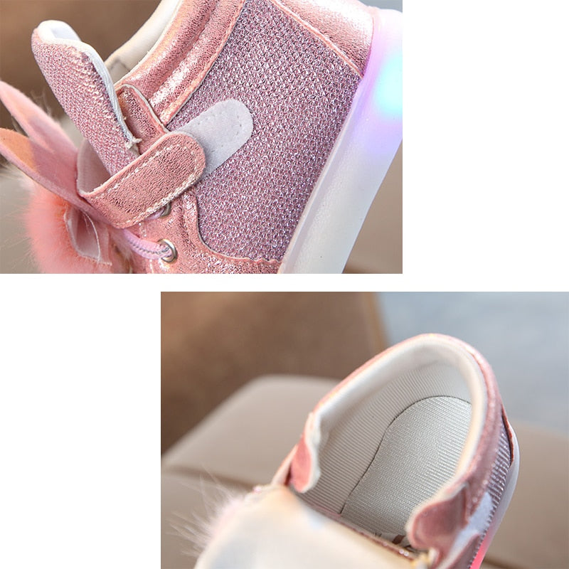 Toddler Girls Glowing Led Sneakers