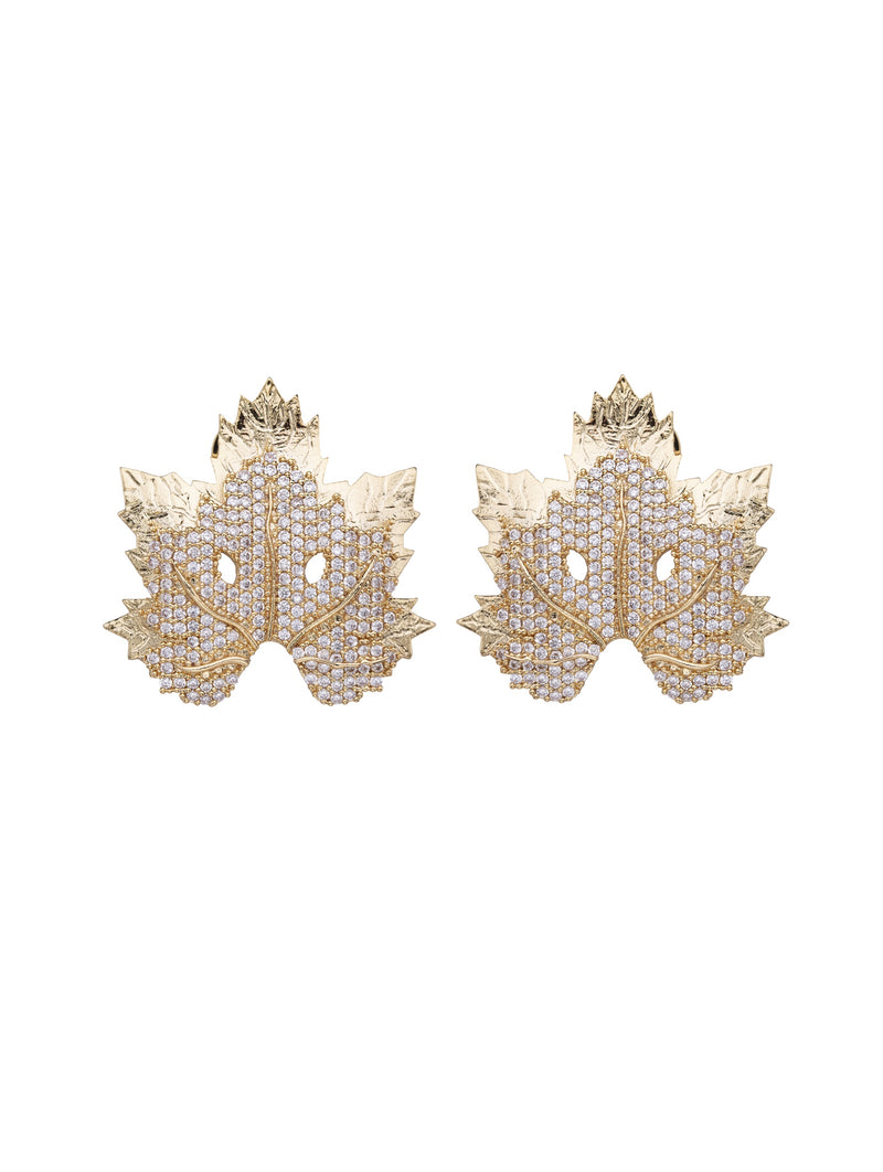 Chinar Leaf Small Earrings