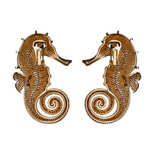 Seahorse Champagne Earrings