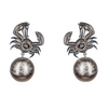 King Crab Crystal Earrings