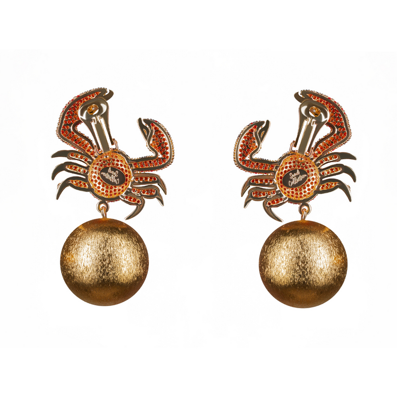 King Crab Amber Earrings