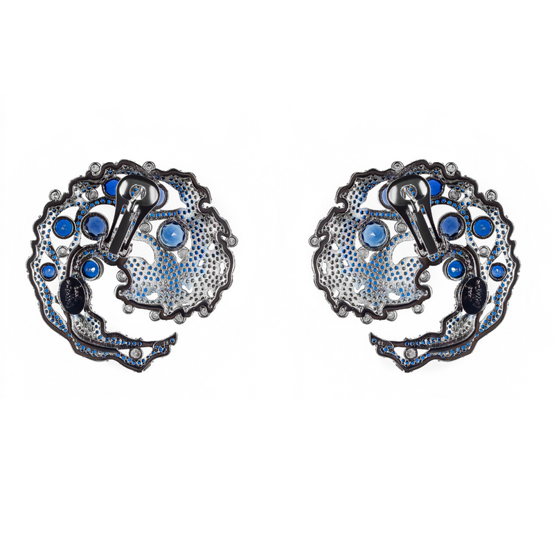 Caspia Navy Earrings