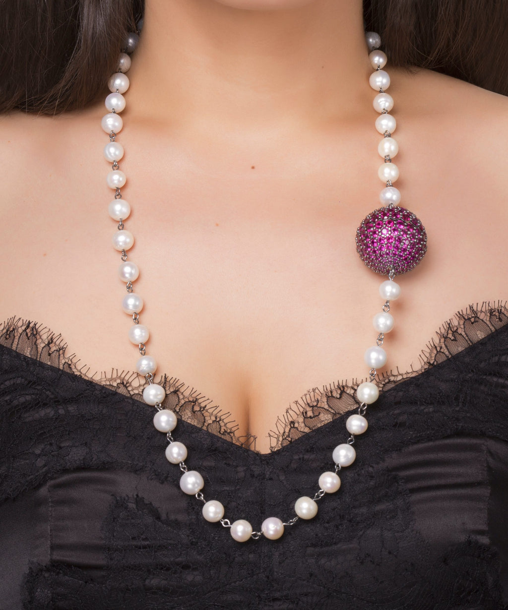Pearl Ruby Necklace