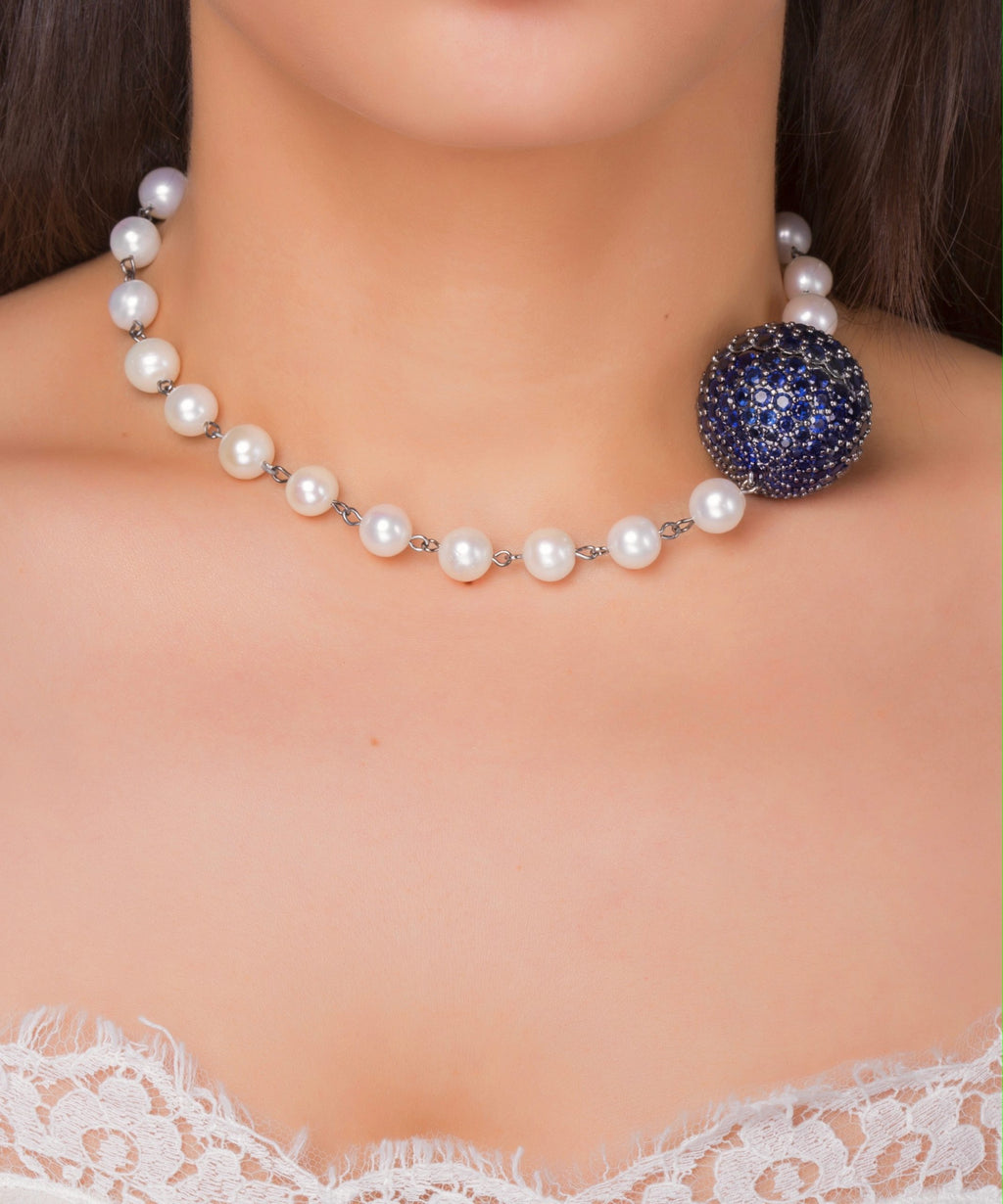 Pearl Navy Necklace
