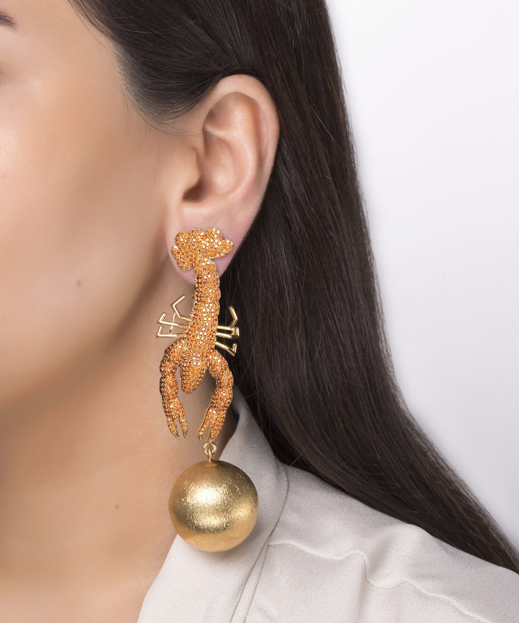 Scorpio Tangerine Earrings
