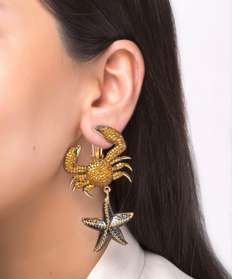 King Crab Tangerine Earring