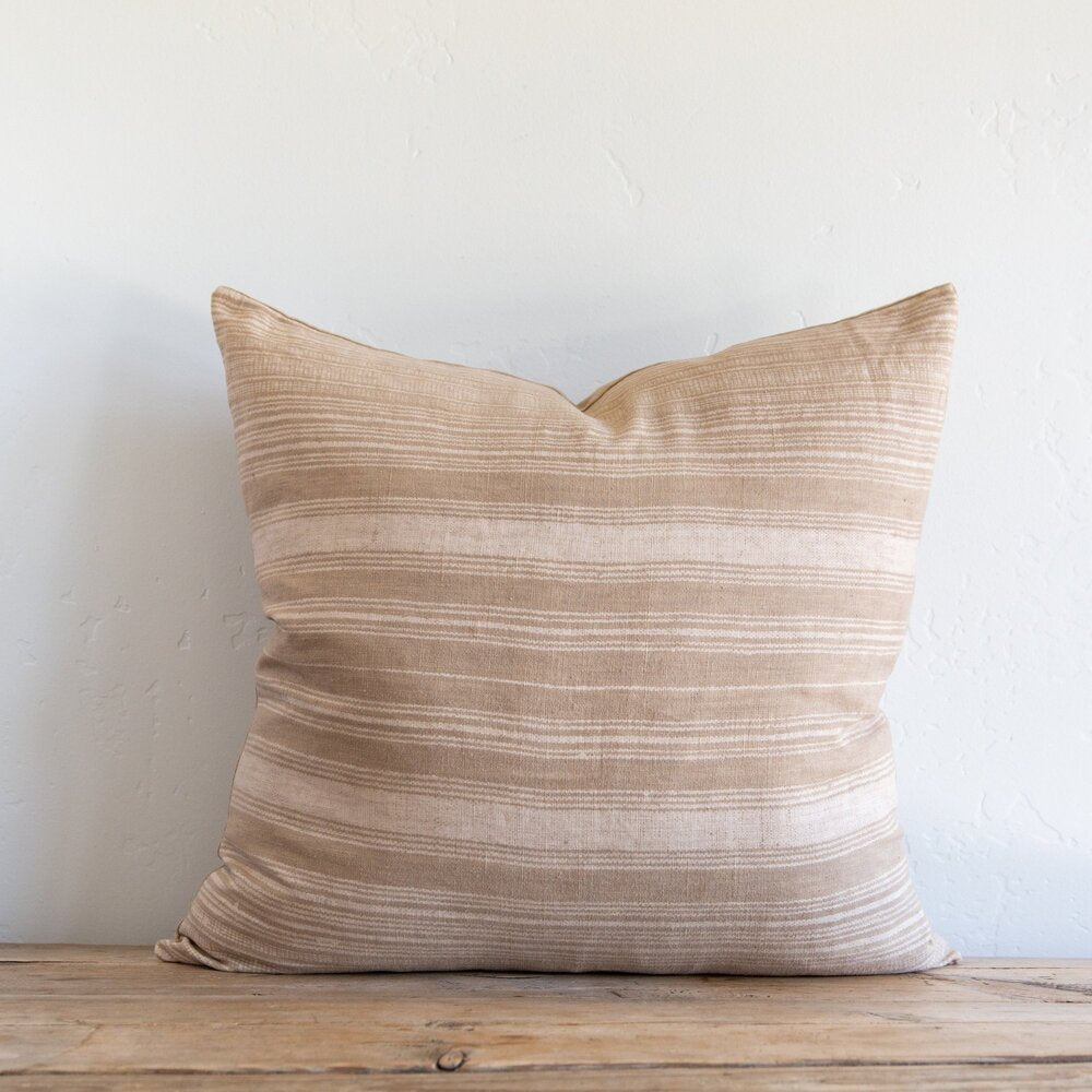 Clyde Stripe Caramel Pillow