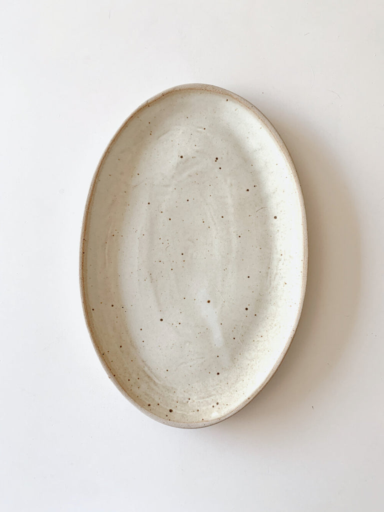 Cascais XL Oval Serving Platter, White Sand