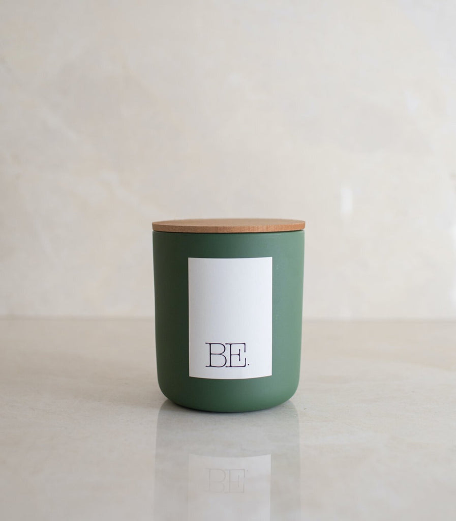 BE. LIGHT: Santal No.26 Vanilla Sandalwood Candle, Pine