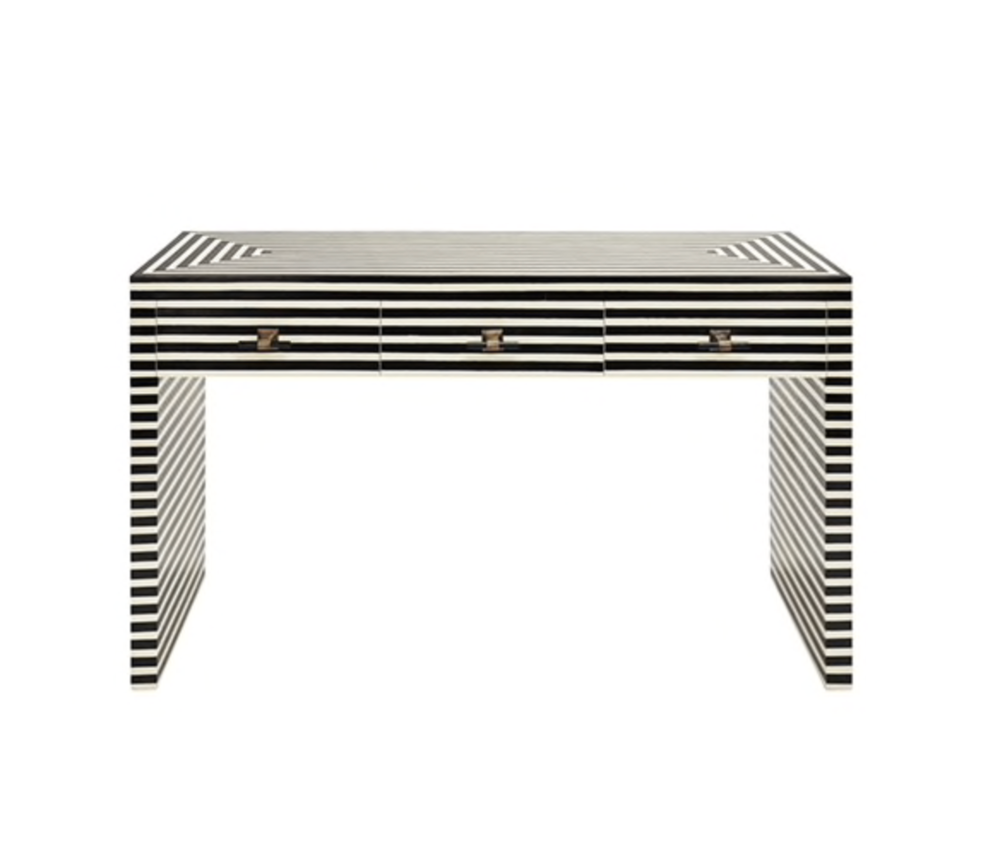 Zoe Striped Console Table