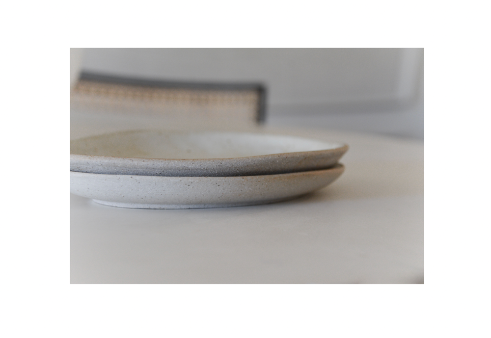 Cascais Small Oval Plate, White Sand