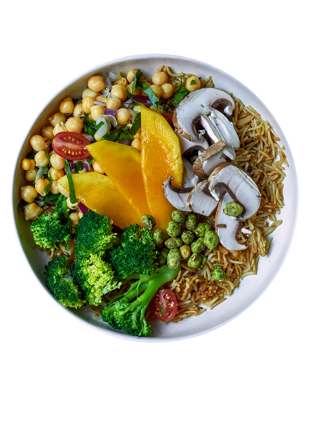 Greenleaf, green leaf, Bowl, Basmati Reis, Kichererbsen, Bowl, , Salat, Superfood