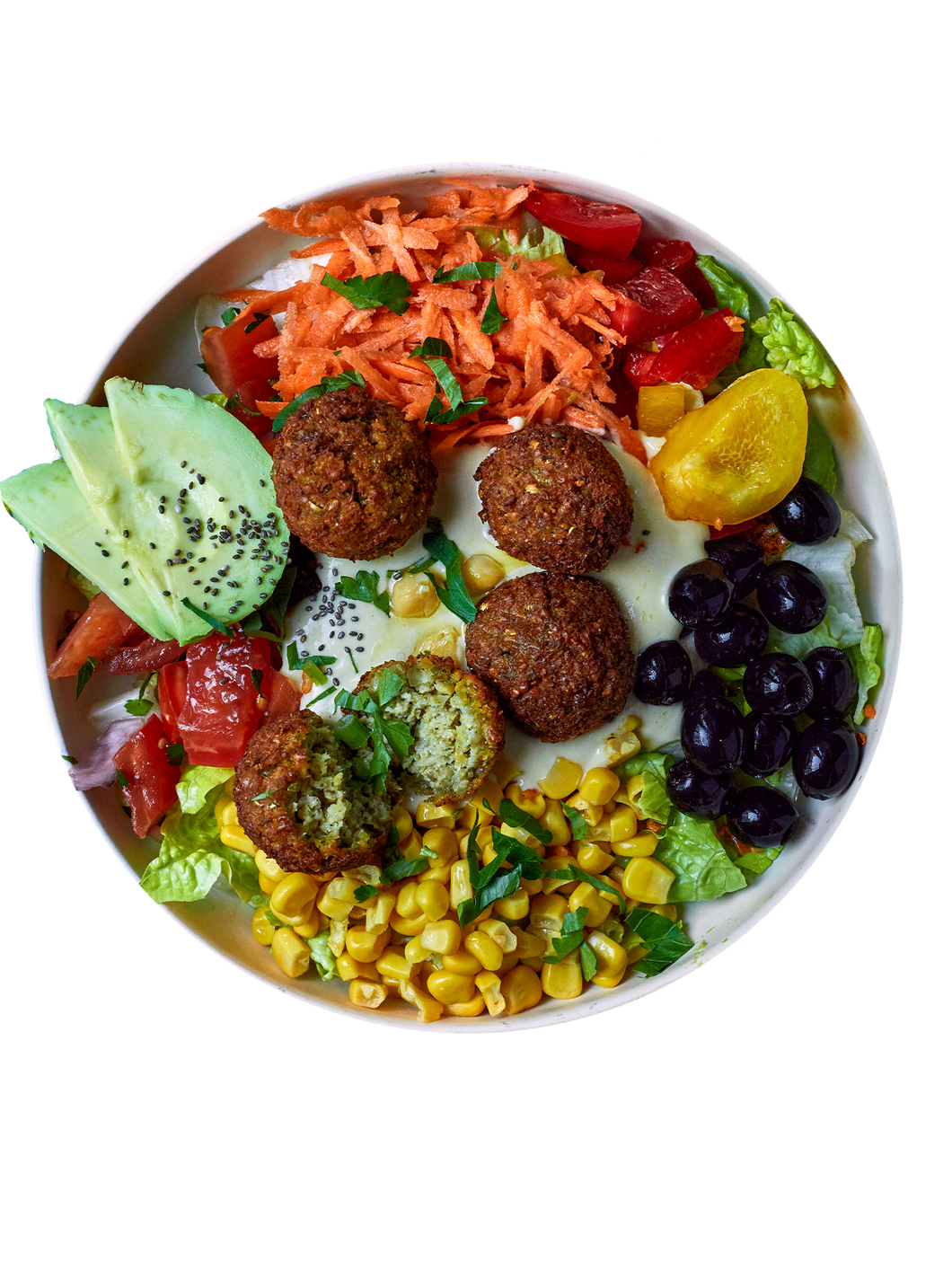 Greenleaf, green leaf, Bowl, Falafel bowl, Salat, Superfood