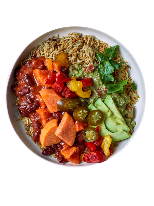 Greenleaf, green leaf, Bowl, Süßkartoffel, Bohnen, Bowl, Sweet Chili, Salat, Superfood