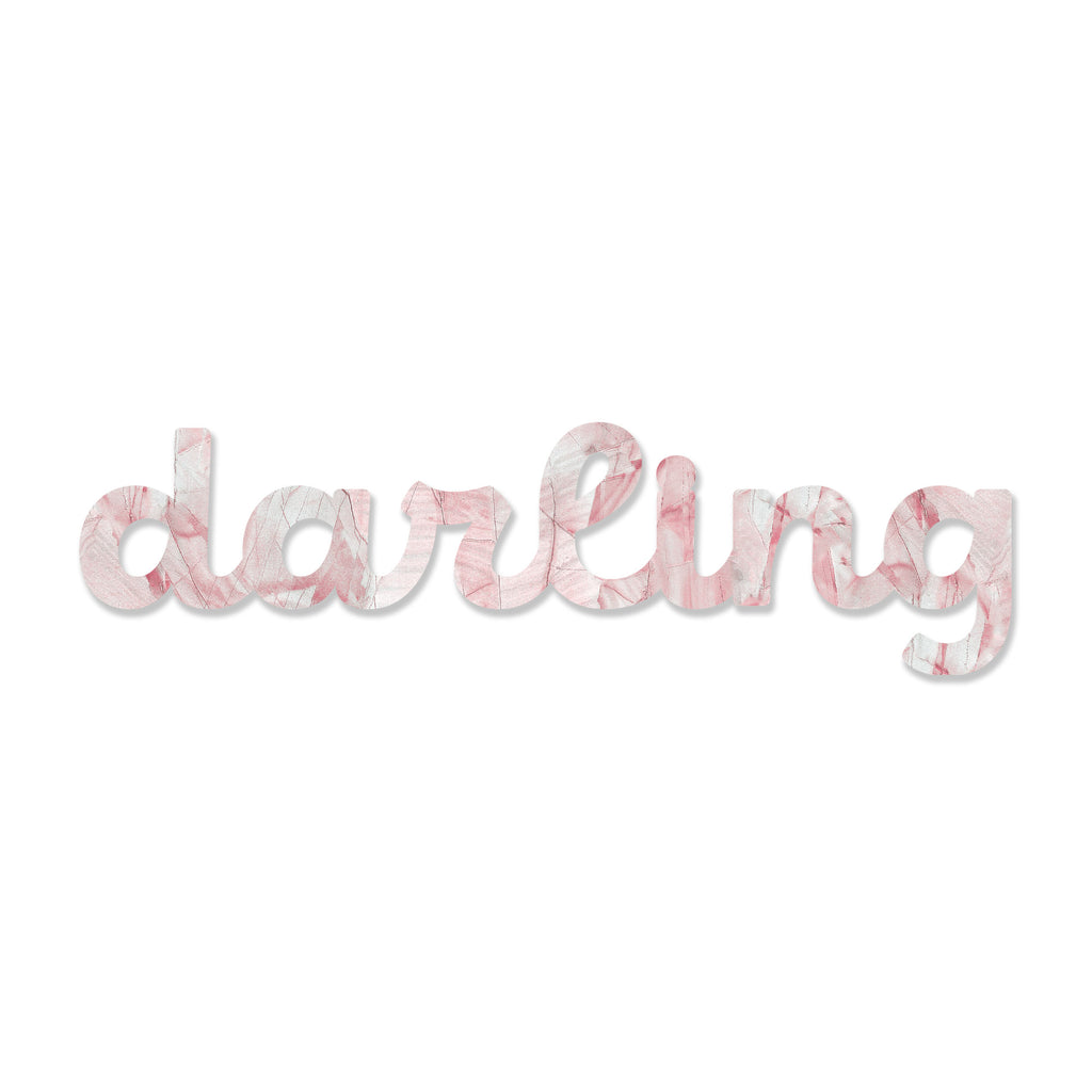Darling (Blush Stone) art piece printed on 48 x 6.5 in by Rudie Lee