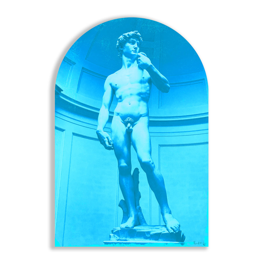 David Remixed (Cyan) (Arched) by Rudie Lee