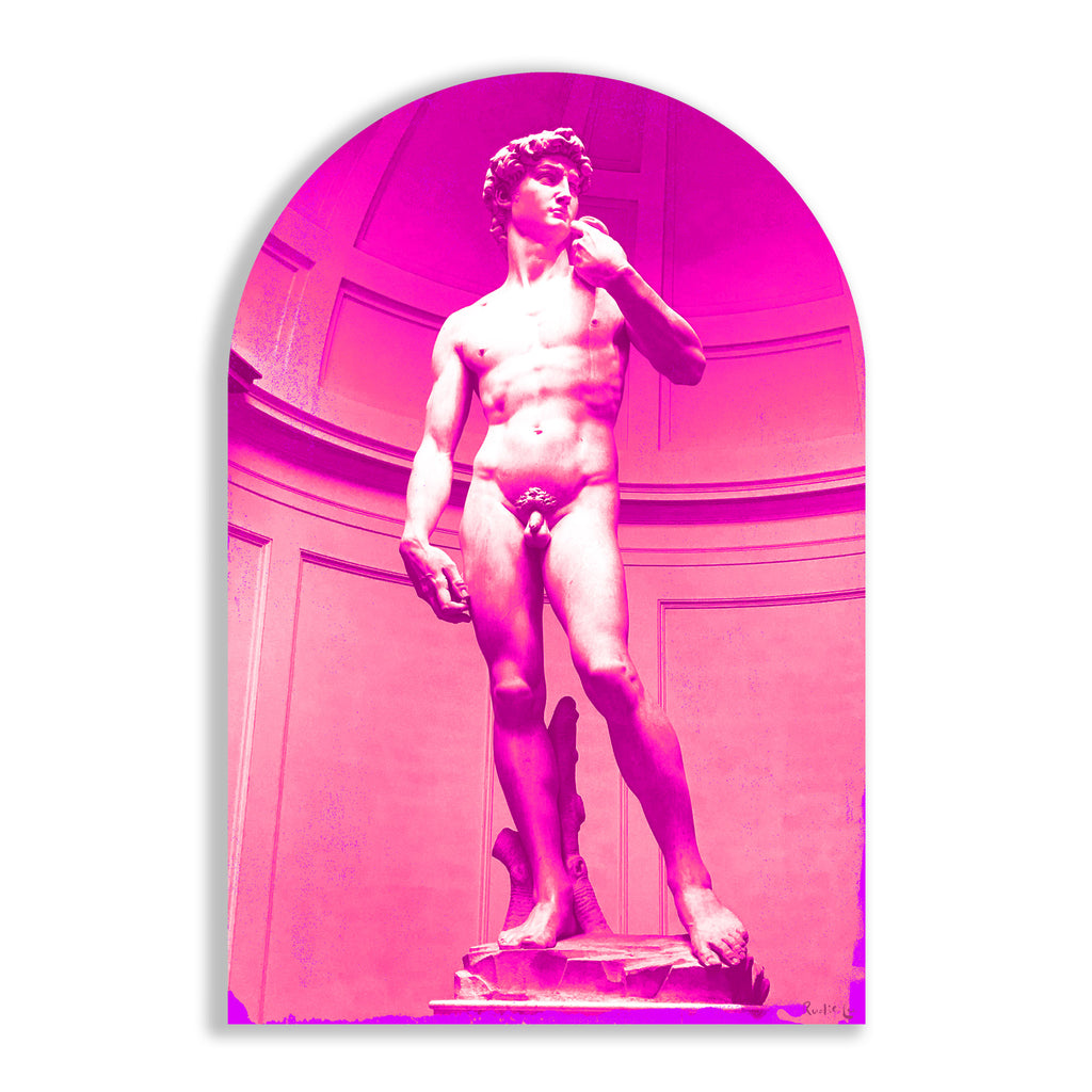 David Remixed (Magenta) (Arched) by Rudie Lee