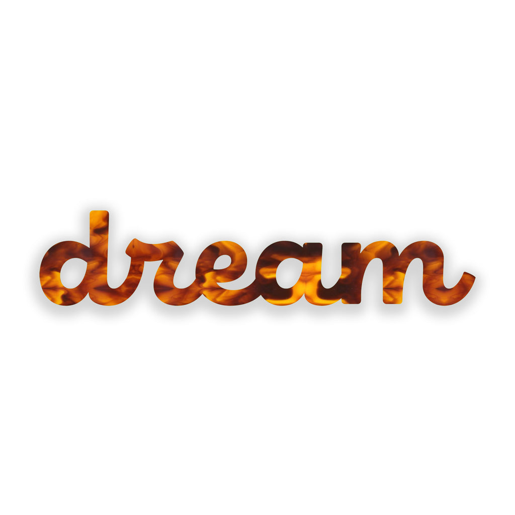 Dream (Tortoise Shell) art piece printed on 24 x 6.5 in by Rudie Lee