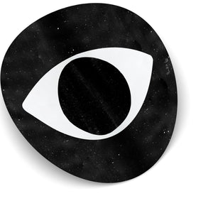 Evil Eye (Black Dust) (Circle) by Rudie Lee